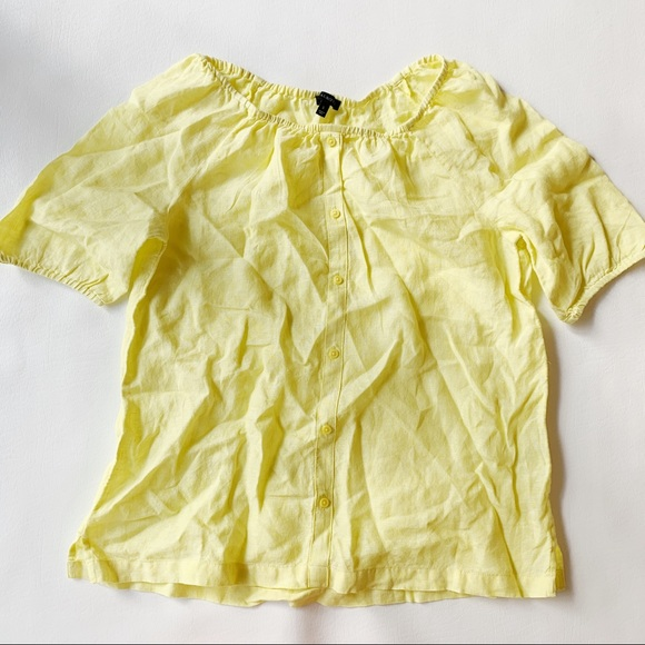 Talbots Tops - 3 FOR $15 TALBOTS Yellow Linen Off Shoulder S